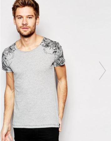 ASOS Replay T shirt with should tattoo print.JPG