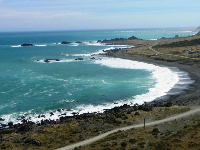 Coast between Cape Palliser and Ngawi, photo by Aidan on FLickr, CC lic.jpg